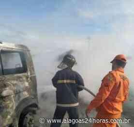 Incêndio destrói automóvel no município de Joaquim Gomes - Alagoas 24 Horas