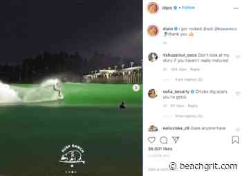 """World famous DJ and influencer Diplo nearly decapitated at Kelly Slater's Surf Ranch: """"I got rocked!"""" - BeachGrit"""