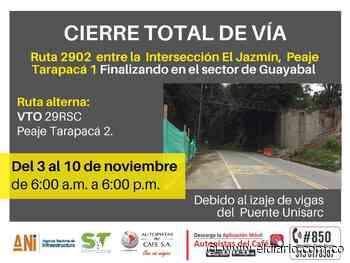 Desde hoy, cierre vial entre Santa Rosa de Cabal y Chinchiná - El Diario de Otún