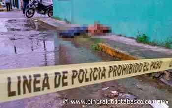 Descubren cuerpo en plena banqueta en Huimanguillo - El Heraldo de Tabasco