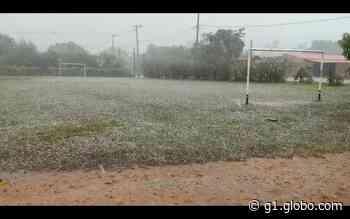 Salto de Pirapora registra chuva com granizo na zona rural - G1