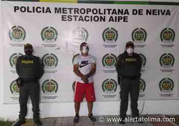 Lo encontraron golpeando a su pareja sentimental en Aipe - Alerta Tolima