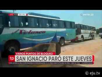 El paro provincial en San Ignacio de Velasco fue contundente - eju.tv