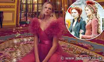Poldark star Gabriella Wilde reveals she adapted her 18th century costumes to breastfeed her son - Daily Mail