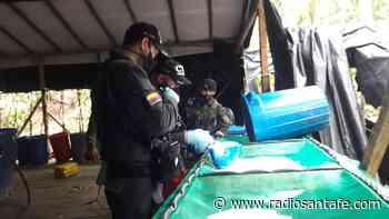Destruido laboratorio de cocaína en Cumbitara-Nariño - Radio Santa Fe