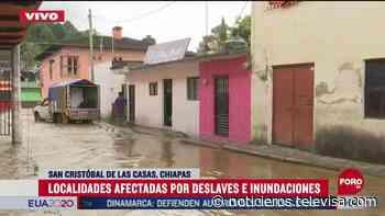 Reportan varios deslaves en San Cristóbal de las Casas, Chiapas - Noticieros Televisa