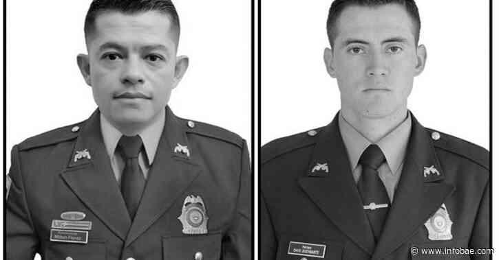 Flórez y Bustamante, los policías condecorados que fueron asesinados en Puerto Libertador, al sur Córdoba - infobae