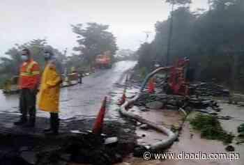 Colapsa carretera en Los Planes de Gualaca - Día a día