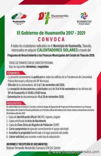 Emite Gobierno de Huamantla la convocatoria para la adquisición de calentadores solares gratuitos - Linea de Contraste