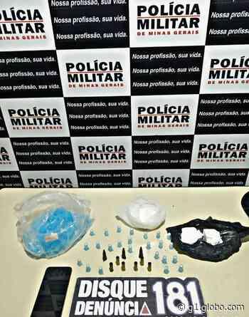 Rapaz é detido com cocaína após denúncia em Lagoa da Prata - G1