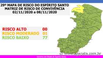 Covid-19: Espírito Santo continua só com Ecoporanga em risco moderado - A Gazeta ES