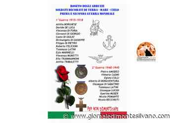 Roseto degli Abruzzi, 8 novembre inaugurazione lapide soldati decorati delle due guerre - Giornale di Montesilvano