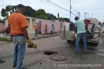 Realizan mantenimiento de sistema de aguas servidas en Tinaquillo - Las Noticias de Cojedes