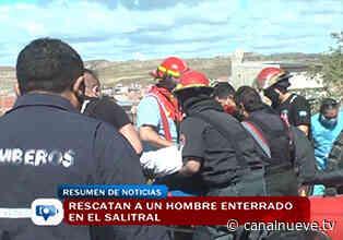 Rescatan a un hombre enterrado en el salitral - Canal 9