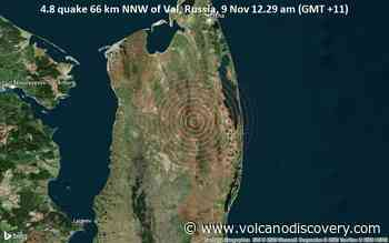 Light magnitude 4.8 earthquake 76 km south of Okha, Russia - VolcanoDiscovery