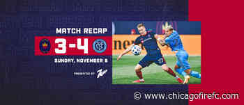 Chicago Fire FC Falls 4-3 to New York City FC