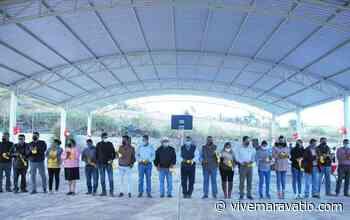 Jaime Hinojosa entrega techumbre a primaria de San Miguel el Alto - Vive Maravatio