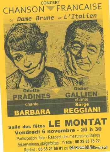 Concert Chanson Française : « La Dame Brune et l'Italien » Le Montat - Unidivers
