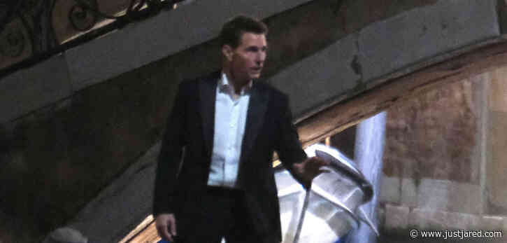 Tom Cruise Films Late-Night Scene for 'Mission Impossible' on Venice Canals