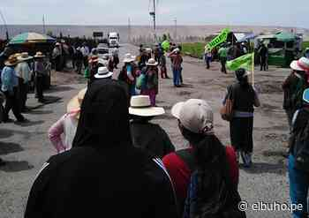 Agricultores de Tambo bloquean vía por mayor descarga de represa Pasto Grande - El Búho - El Búho Noticias de Arequipa