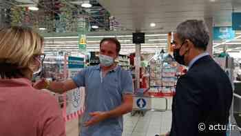 Vidéo. Contrôle routier et inspection d'un supermarché à Ustaritz - actu.fr