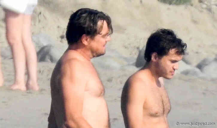 Leonardo DiCaprio Goes Shirtless for Beach Day with BFF Emile Hirsch! (Photos)