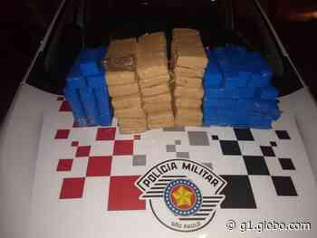 Fiscalização policial em Pirapozinho apreende 34 kg de maconha e prende casal em flagrante - G1