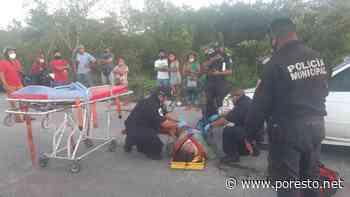 Cuatro heridos por fuerte encontronazo en la carretera Tizimin-Sucopo - Por Esto