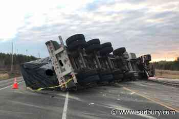 Update: Unknown how long Hwy. 17 will be closed at Coniston after tractor-trailer rollover