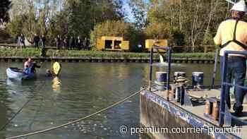Le fond du canal colmaté provisoirement entre Thourotte et Longueil-Annel - Courrier picard