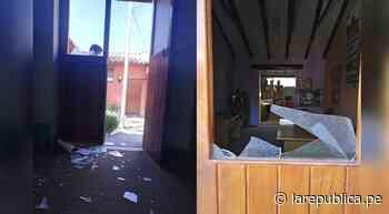 Arequipa: Rompen puerta y ventanas de sede de la Contraloría en Chivay   lrsd - LaRepública.pe