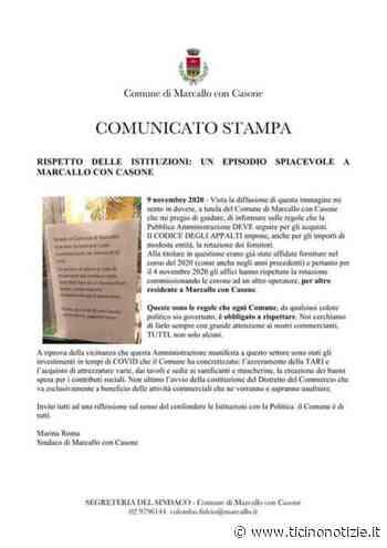 Rispetto delle Istituzioni: un episodio spiacevole a Marcallo con Casone | Ticino Notizie - Ticino Notizie