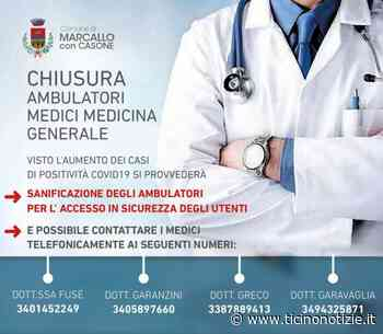Marcallo con Casone/2. Emergenza Covid: chiusi al pubblico gli ambulatori di Medicina Generale - Ticino Notizie
