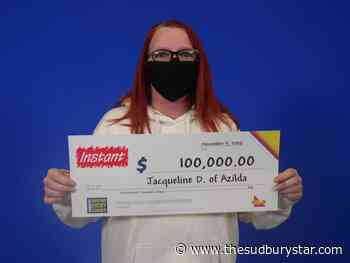Azilda woman collects $100K prize