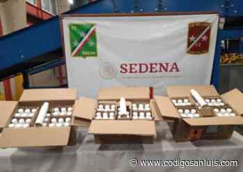 Aseguran 27 litros de metanfetamina en Aeropuerto Ponciano Arriaga - Código San Luis