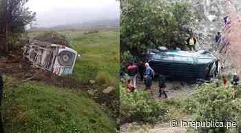 Cajamarca: ambulancia y combi se despistan en carretera a Bambamarca LRND - LaRepública.pe