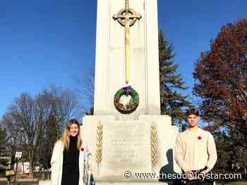 Sudbury teens move onlookers with Remembrance Day service at Memorial Park (watch video)