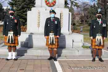 Irish Regiment Remembrance Day ceremony in Memorial Park