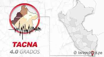 Tarata: IGP reporta má de siete movimientos telúricos en una hora en Tacna - LaRepública.pe