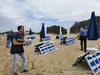 TORRE LAPILLO - Lido abusivo sulla spiaggia: denunciato dai carabinieri un uomo - ManduriaOggi