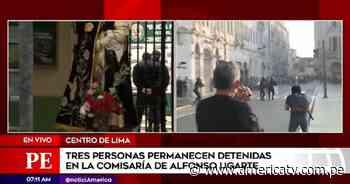 Vacancia presidencial: Tres personas permanecen detenidas en la comisaría de Alfonso Ugarte - América Televisión