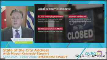 """Vancouver Mayor Kennedy Stewart delivers """"state of the city"""" address"""