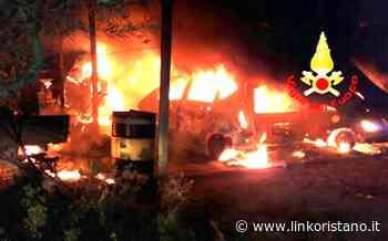 Attentati incendiari a Massama e Santa Giusta: a fuoco alcuni mezzi - LinkOristano.it - Linkoristano.it