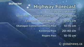 B.C. afternoon weather forecast: Nov. 12