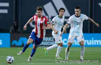 Gastón Giménez starts for Paraguay in 1-1 World Cup Qualifying draw with Argentina