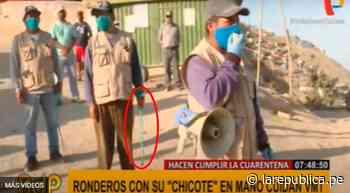 Video: Vecinos de Villa Maria del Triunfo castigan con chicote a personas que incumplan la cuarentena   corona - LaRepública.pe