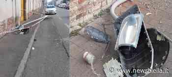 Gaglianico - Distrugge un palo della luce e si allontana col camion. Identificato dalla Polizia locale - newsbiella.it