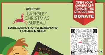 Global BC supports Langley Christmas Bureau Gift Card Drive