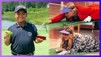 10-Year-Old Prodigy Teaches Kelly & Jane Lynch To Golf - Yahoo Entertainment