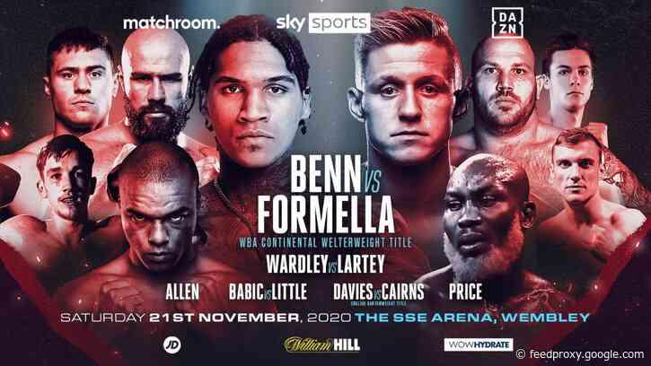 Conor Benn vs. Sebastian Formella on November 21 on Sky and DAZN